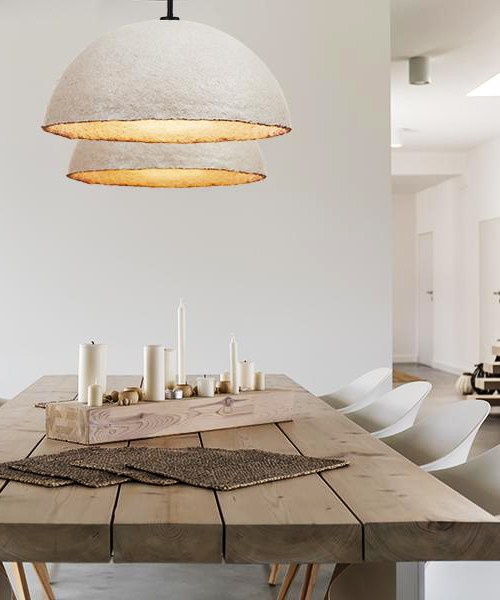 Mushroom lights from the sustainable brand Flow & Chaos