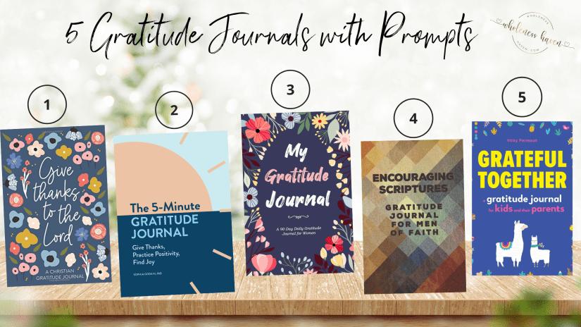 Top 5 gratitude journals with prompts