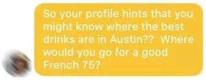 Bumble drinking question