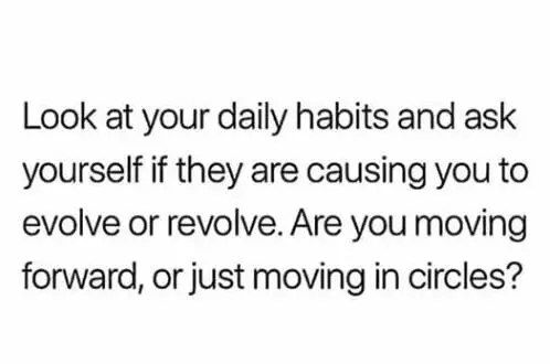 daily habits are important