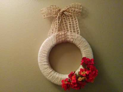 erring on the side of love wreath