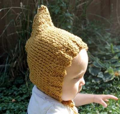 My crafty friend Anna speaks {{and gives you a handknit}}