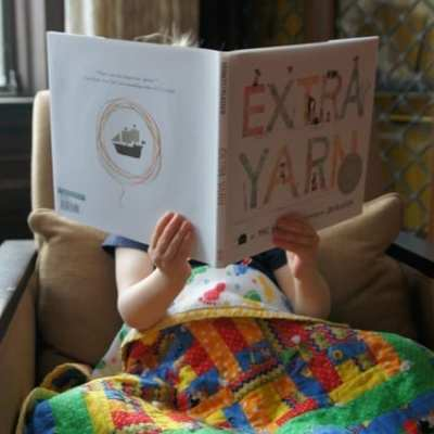 SweetPea's favorite book and I have two copies for you {Extra Yarn!}