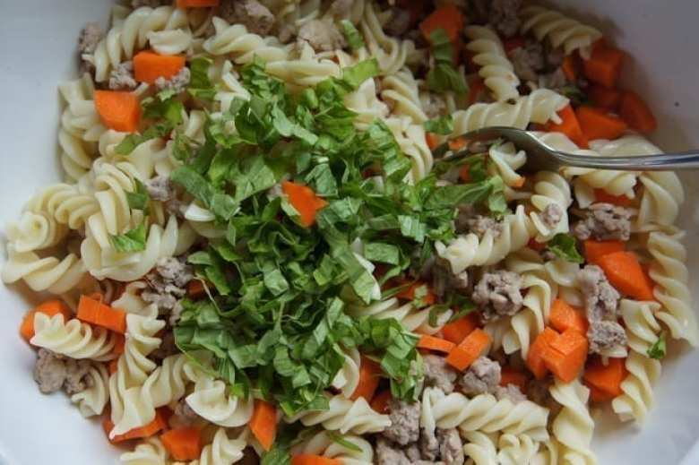 ground turkey and pasta salad
