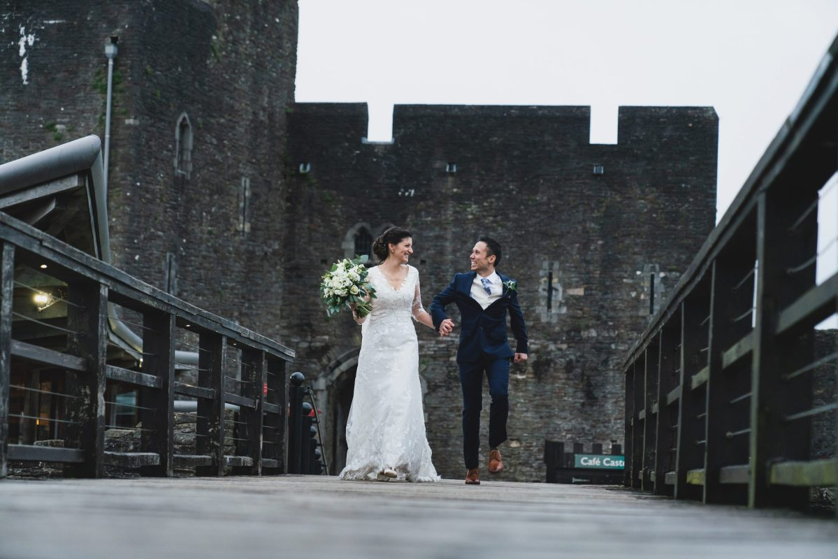 wedding Caerphilly castle