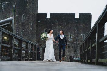 wedding Caerphilly castle