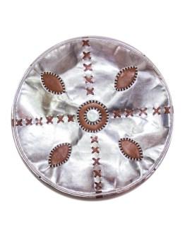 SaddleBrown Metallic Pouf-0