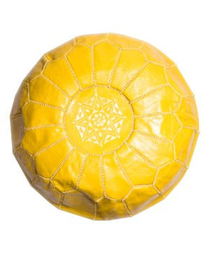 Yellow Classical Pouf-0