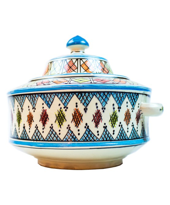 Ceramic Soup Tureen with his Bowls-2940