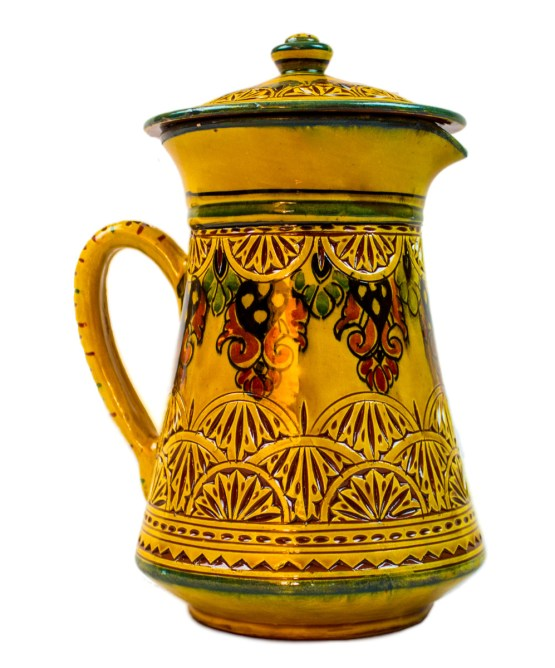 Collection Ceramic Jug Engraved in yellow-3026