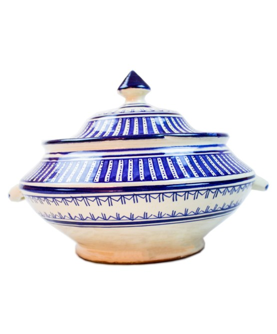 Ceramic Soup Tureen with his Bowls-2979