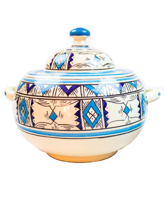 Ceramic Soup Tureen with his Bowls-2963