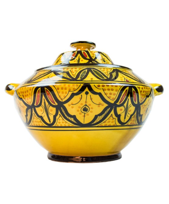 Ceramic Soup Tureen with his Bowls-2975