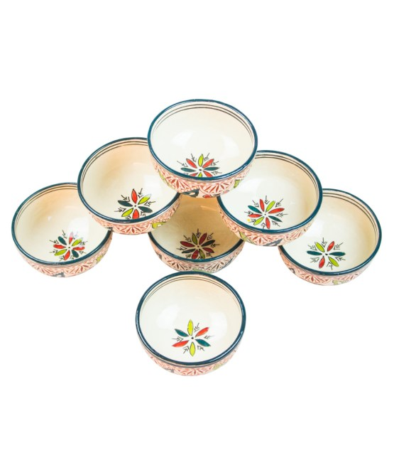 Ceramic Soup Tureen with his Bowls-2960