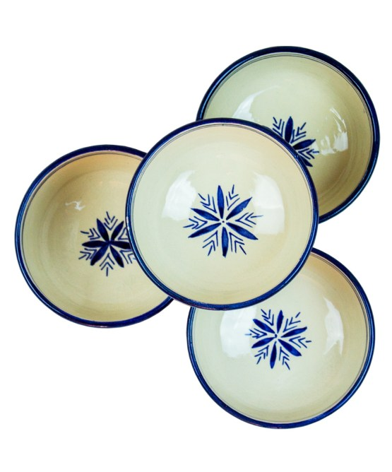 Ceramic Soup Tureen with his Bowls-2977