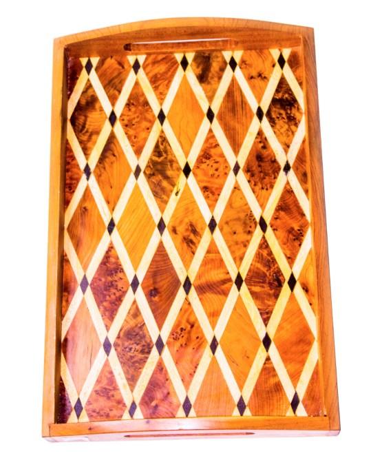 Tray of Thuya wood WP-03WT-2887