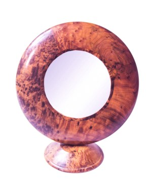 Thuya wood mirror frame-0