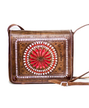Moroccan handmade leather bag-0