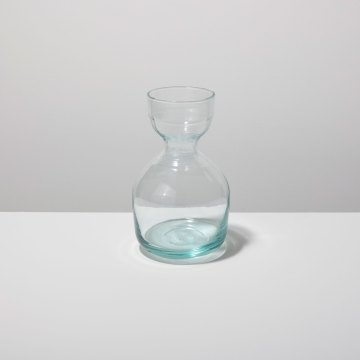 Recycled Glass Ripple Carafe Short