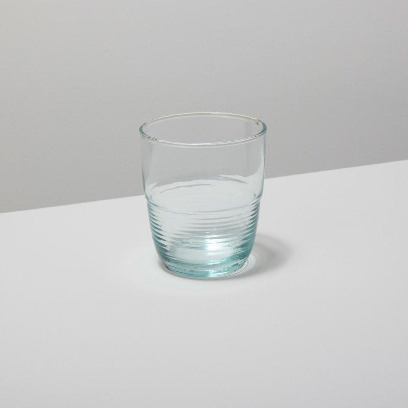 Recycled Glass Ripple Tumbler, Short