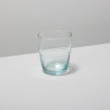 Recycled Glass Ripple Tumbler, Short
