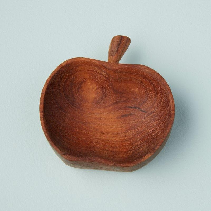 Teak Apple Bowl