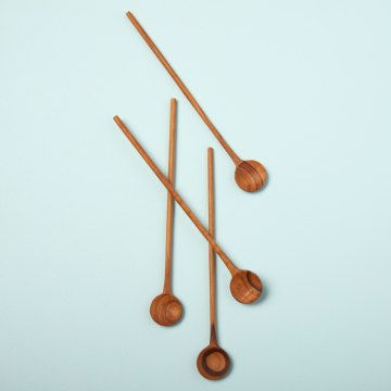 Teak Stirrers, Set of 4