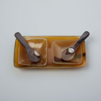 Natural Mango Wood Serving Bowls, Set of 3