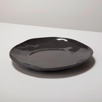 Stoneware Plate Slate, Medium