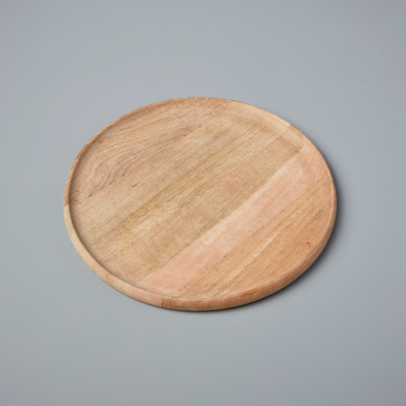 Natural Mango Wood Round Platter Large