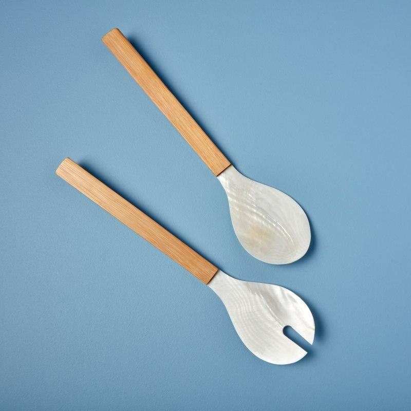 Seashell & Bamboo Serving Set