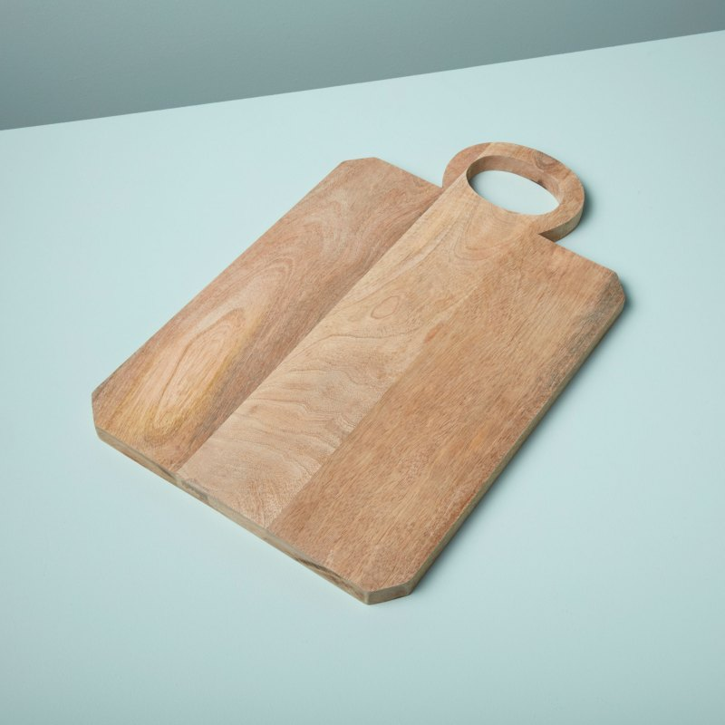 Natural Mango Wood Board with Round Handle