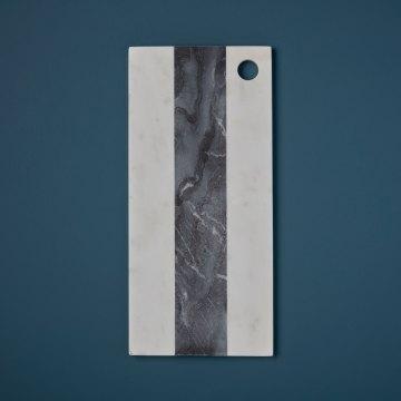 White & Gray Marble Rectangular Board Large