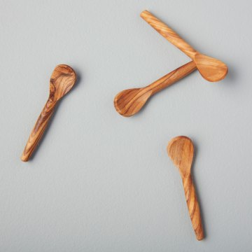 Olive Wood Spoons, Extra Small, Set of 4