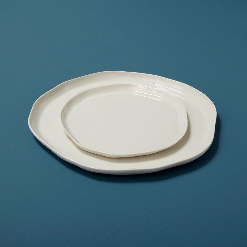 Stoneware Flat Plate White Medium