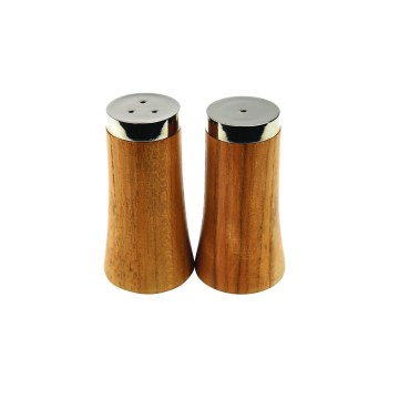 Teak & Stainless Salt & Pepper
