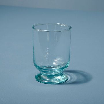 Recycled Glass Footed Tumbler