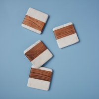 Be-Home_White-Marble-and-Wood-Square-Coasters-Set-of-4_58-73W