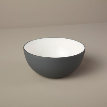 Aluminum & Enamel Bowl, Small