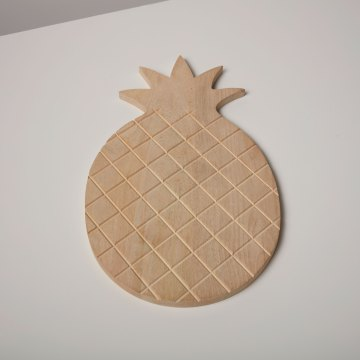 Natural Mango Wood Pineapple Board