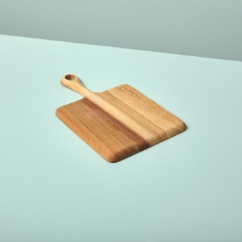Acacia Square Board with Short Handle Small