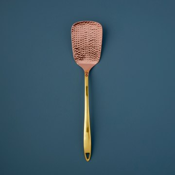 Hammered Copper & Gold Spatula