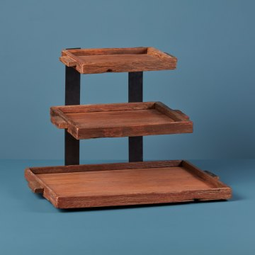 Reclaimed Wood 3 Tier Tray
