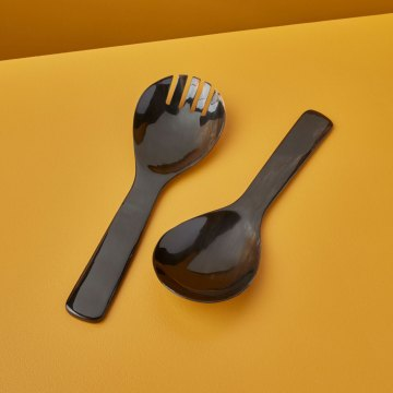 Black Horn Serving Set, Extra Large