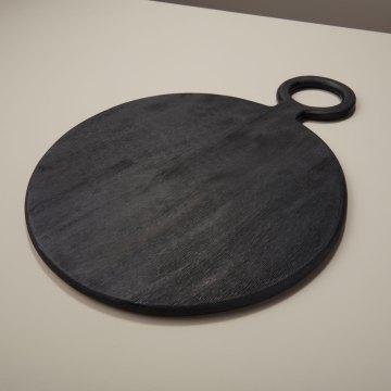 Black Mango Wood Round Board, Medium