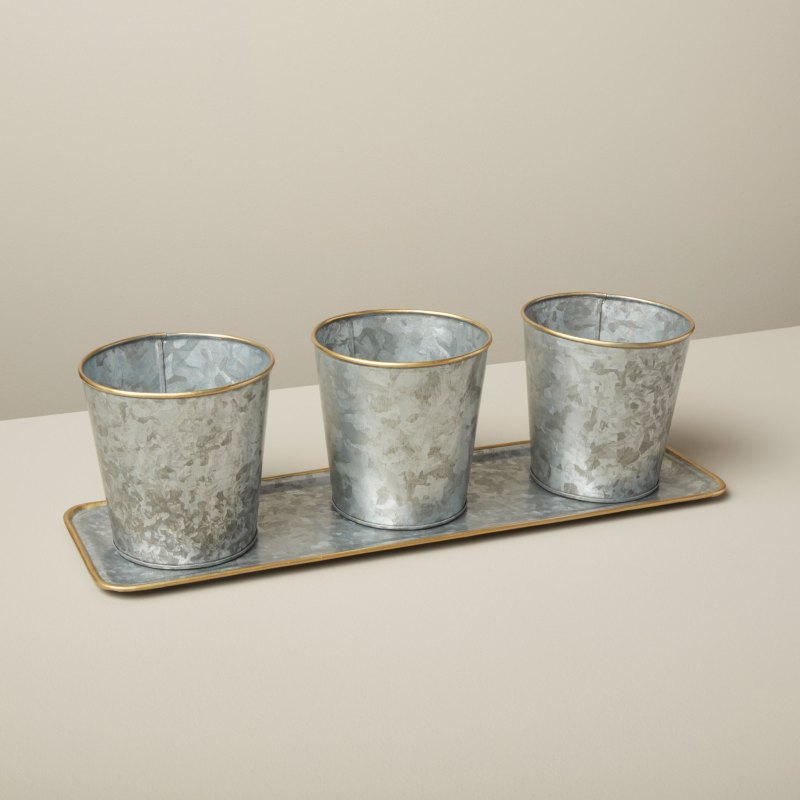 GI Set of 3 Planters with Tray