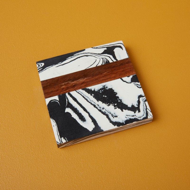 Zebra Marble & Wood Coaster, Individual