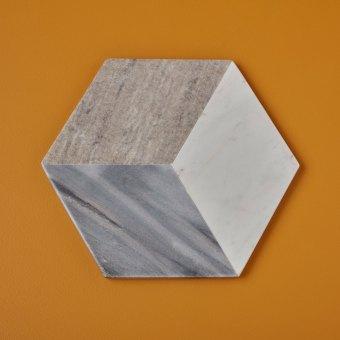 Geometric Marble Triangular Cheese Set of 3