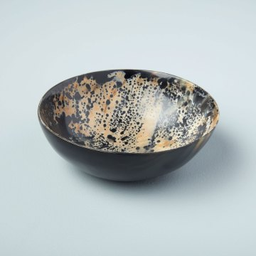Horn Bowl Speckled Large