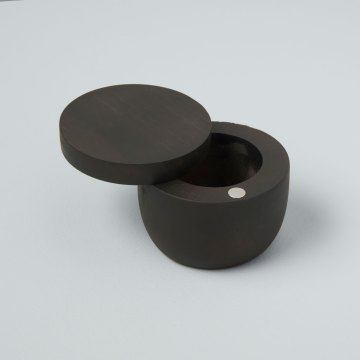 Ebony Teak Cellar with Pivoting Lid, Small